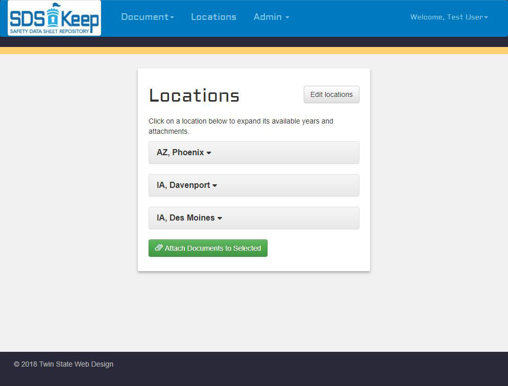 SDS Keep - Location Management